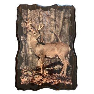 Vintage wall art deer buck hunting cottagecore